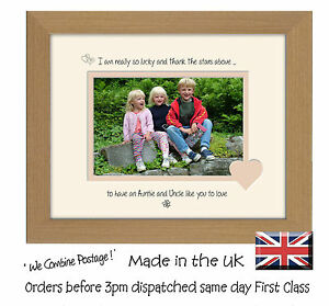 I thank the stars above Auntie and Uncle Photo frame 749F Quality Gift