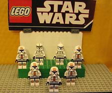 "STAR WARS LEGO LOT  MINIFIGURE--MINI FIG  ""  LOT OF 7 TROOPERS--REPUBLIC-CLONE """