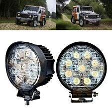 2X 27W 5Inch Round LED Work Light Fog Driving DRL For SUV ATV Trains Forklift