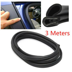 Black Universal Car Auto Truck Ship Dustproof Rubber Seal Strip With Steel Sheet