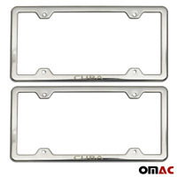 CUBA Print License Plate Frame Tag Holder Chrome S. Steel For Jeep Compass