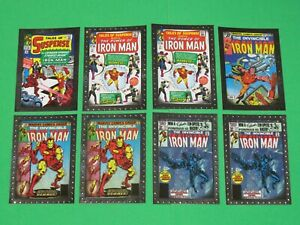 2010 IRON MAN MOVIE 2 UPPER DECK COMIC COVERS INSERT SILVER FOIL 8 CARD LOT!