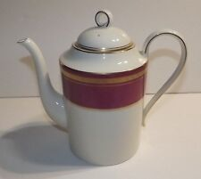 VTG TEA POT_OSCAR de LA RENTA - IMPERIAL RUBY FINE CHINA COFFEE TEA POT & LID