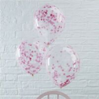 PINK CONFETTI FILLED BALLOONS - Venue Deco, Wedding, Baby Shower,Hen Night,Party