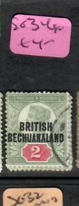 BECHUANALAND (P1705B)  ON GB QV  2D  SG 34   VFU