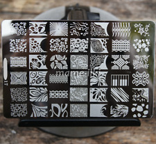 Large Nail Art Image Stamp Template Plates Polish Stamping Manicure Image (D17)