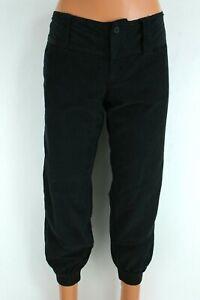 Dimensione Danza BNWT Classic Black Velvet Women Crop Sweatpants Size M