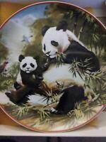 "Villeroy & Boch Heinrich Germany World Wildlife Fund WWF Panda Mom Baby 8"" Plate"
