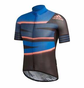 NWT Adidas Men Adistar Cycling Ciclismo Tech Indigo Form Fitting Jersey Medium