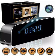 Wireless Camera Clock   Motion Detection Alarm Clock 1080P Night Vision Black