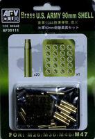 AFV Club 1/35 AF35111 WWII US Army 90mm Shell for M26/M36/M46/M47 (Brass)