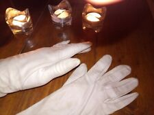Gants anciens 100% Cuir Blanc Femme - Vintage glove women white leather