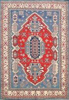 Super Kazak Wool Geometric Oriental Area Rug Hand-knotted RED Carpet 7'x10' New