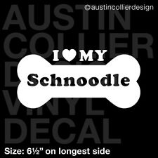 "6.5"" Schnoodle vinyl decal car window laptop sticker - dog breed rescue"