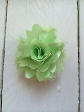 Green Clip Small Flower Girl Bridesmaid Wedding Prom Races