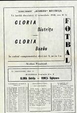 ROMANIA 1980 GLORIA Buzau - GLORIA Bistrita  HISTORY SOCCER PROGRAM 2 pag