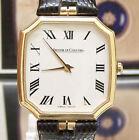 VINTAGE RARE MINTY DIAL 80'S SOLID 18K GOLD QUARTZ JAEGER LECOULTRE WRIST WATCH