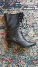EUC women's victorian black boots size 8 Funtissima w box