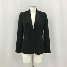 Ralph Lauren Women's Wool Blazer Jacket UK 8 Black Fitted Formal Smart 352167