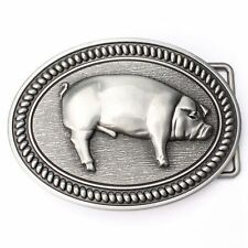 Vintage Hog Pig Belt Buckle Western Cowboy Native American Motorcyclist (HOG-02)