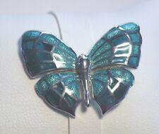 Silver & Enamel Butterfly Brooch by Nicole Barr Fine Enamels