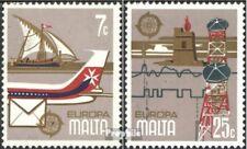 Malta 594-595 gestempeld 1979 Postadres