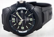 Casio MW-600F-1AV Black Analog Glow Watch 10 Year Battery Date Display Sport New