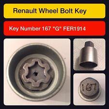 """Genuine renault verrouillage roue écrou clé/167 """"g"""""""