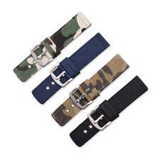 Universal Camouflage Canvas Wristwatch Strap Unisex Watch Band 18/20/22/24mm