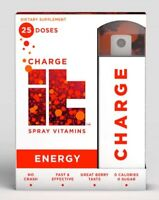 CHARGE it Oral Energy Spray Vitamins dietary supplement 25 Doses NEW!!