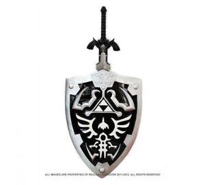 Full SIze Dark Link's Hylian Shield Master Sword from the Legend of Zelda Combo