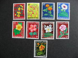 Niger flowers Sc 129-37 MNH check them out!