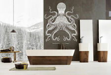 ik1212 Wall Decal Sticker octopus marine animals bathroom