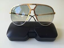 Vintage alpina m1 Sunglasses large Gold/Silver W. Germany rare aviator tr3 tr5 2