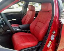 KATZKIN RED LEATHER INTERIOR SEAT CVRS FIT 2018 2019 HONDA ACCORD SPORT EX SEDAN