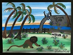 REAL GOODFELLAS Original Art by HENRY HILL,(Tampa Zoo) Signed with COA