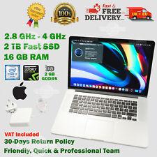 "READ! MacBook PRO 15.4"" 2TB SSD 16GB RAM i7 2.8GHz DG Apple Laptop TouchPad >1TB"