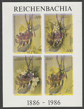 Guyana 5389 - 1985 Orchids IMPERF m/sheet INVERTED COLOURS unmounted mint