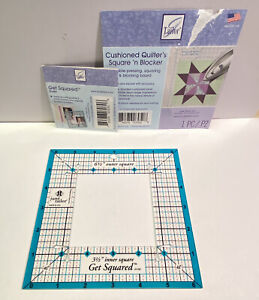 June Tailor Get Squared Ruler 6.5 by 3.5 Inches Quilting Quilt Blocks JT 705 USA