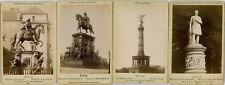 Reihe 4 CDV-Fotos Monumente Berlin Denkmäler Preußen Militär Militaria Oertel