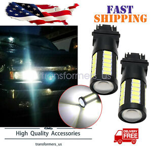 3157 Bright White 5630-SMD LED Bulbs Daytime Running Lights DRL for Chevrolet