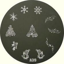 Stamping Schablone  A39,Weihnachtsmotive, Stempelschablone, Nail Art Stempel