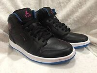 Nike Air Jordan 1 Mid Men's Basketball Shoes Size 9 Black Style 554724-029 EUC