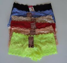 Lot of 6 Women Lace Boyshorts Panties Sexy Thong Size Medium - NEW WITH TAGS