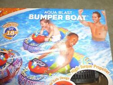 Banzai Bumper Boat with aqua blast Red Shoots water up to 18 Feet NEW Motorized