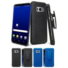 For Samsung Galaxy S8 Holster Belt Clip Combo Kickstand Viewing Phone Case Cover