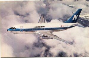 NORDAIR - BOEING 737-200 - AIRLINE ISSUE POSTCARD
