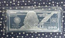 2017 4 Troy Ounce .999 Silver $100 Bill Deep Mirror Proof, 4oz Note Size Bar