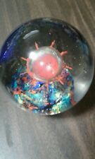 Glass Paperweight - Vintage Trippy Heavy Large Unique Spectacular