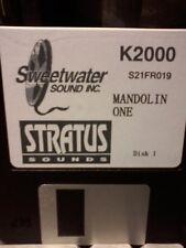 Kurzweil ~ STRATUS ~ MANDOLIN ONE ~ Floppy Disk of Krz w/ V.A.S.T. Programs!!!